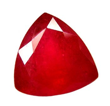 2.21 ct. Ruby, Rich Glowing Red, Trilliant / Trillion Faceted Natural Gemstone