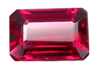 2.06 ct. Rhodolite Garnet, Pink Purple, VVS Octagon (Emerald) Faceted Gemstone