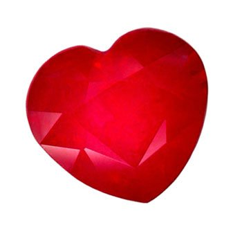 SOLD ? 3.09 ct. Ruby, Rich Glowing Red, Heart Shaped/Faceted Natural Gemstone