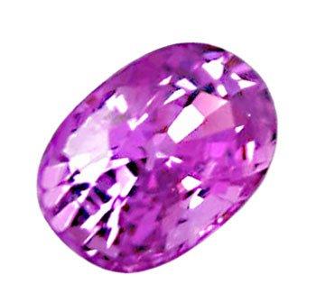 1.00 ct. Sapphire, Intense Violet/Purple, VVS Oval Faceted Natural Gemstone, Ceylon