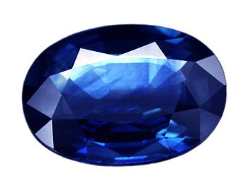 1.10 ct. Sapphire, Rich Blue, IF-VVS, Oval Faceted Natural Gemstone, Ceylon