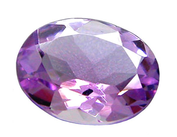 SOLD 1.70 ct. Amethyst, Purple Rose Dfrance, IF-VVS1, Oval Faceted Gemstone