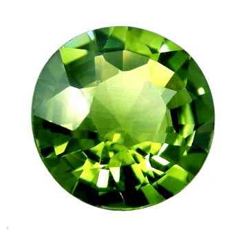 1.39 ct. Tourmaline, Green, Flawless (IF), Round Faceted Gemstone