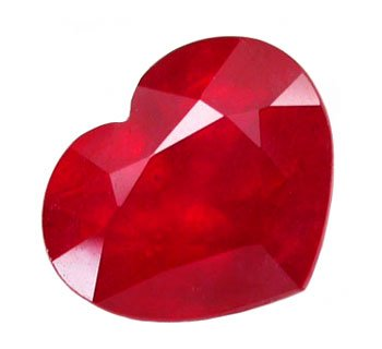 2.63 ct. Ruby, Rich Glowing Red, Heart Shaped/Faceted Natural Gemstone