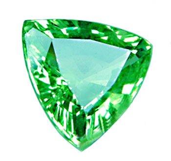 1.27 ct. Tsavorite Garnet, Neon Green, Trilliant/Trillion Faceted Untreated Natural Gemstone
