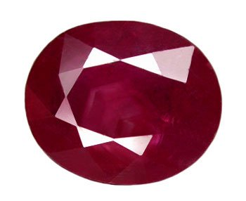 5.23 ct. Ruby, Red, Oval Faceted Natural Gemstone, Madagascar