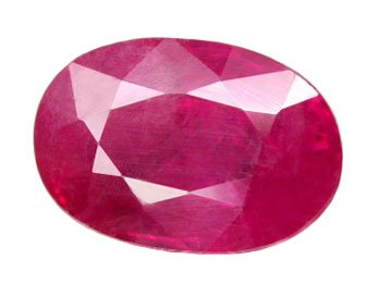 HOLD 2.00 ct. Ruby, Pinkish Red, Oval Faceted Natural Gemstone, Madagascar