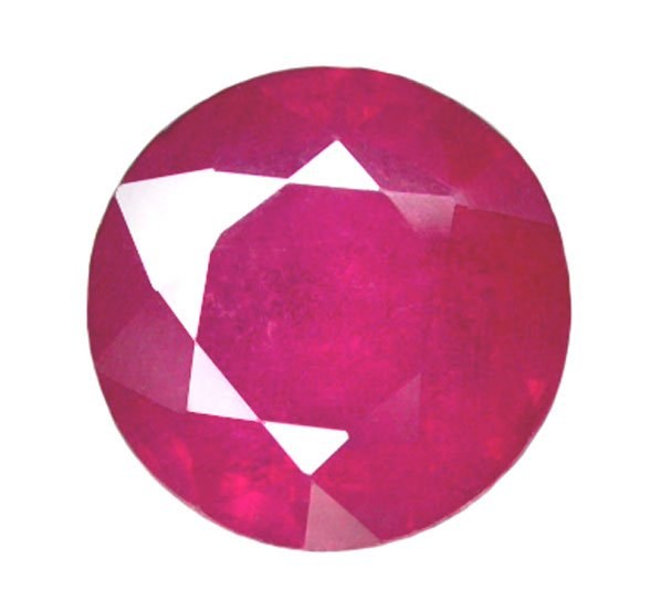 HOLD 1.76 ct. Ruby, Pinkish Red, Round Faceted Natural Gemstone