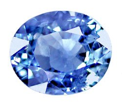 0.84 ct. Sapphire, Blue, VS1 Oval Faceted Gemstone, Ceylon