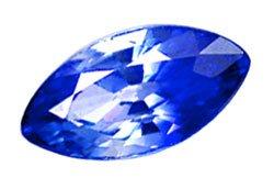 0.67 ct. Sapphire, Blue/White Bi-Color, IF-VVS Marquise Ceylon