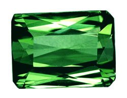 SOLD 1.05 ct. Tourmaline, Green, IF-VVS Octagon Faceted Gemstone