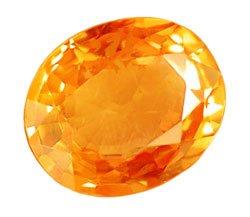 SOLD 0.80 ct. Sapphire, Orange VVS Oval Facet Natural Gem, Africa