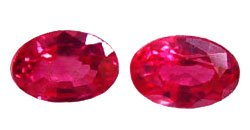 1.06 ct. Spinel, Padparadscha (Lotus Blossom) Red VVS Oval Burma, 1 Pair