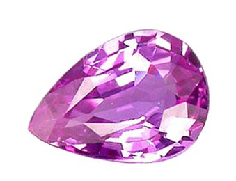 1.02 ct. Sapphire, Pink Violet, Pear (Tear Drop) Faceted Natural Gemstone, Ceylon
