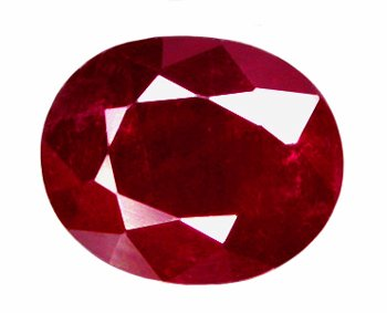 0.96 ct. Ruby, Pigeon Blood Red, Oval Faceted Natural Gemstone