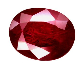 1.48 ct. Ruby, Pigeon Blood Red, Oval Facet Natural Gemstone