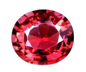 sold 0.98 ct.  RubelliteTourmaline, Intense Pink Rose, VVS1 Oval Faceted Natural Gemstone
