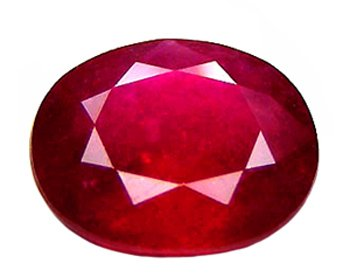 sold 2.50 ct. Ruby, Purplish Red, Oval Faceted Natural Gemstone