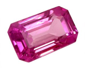 1.21 ct. Sapphire, Rich Royal Pink,  Emerald Faceted Natural Gemstone