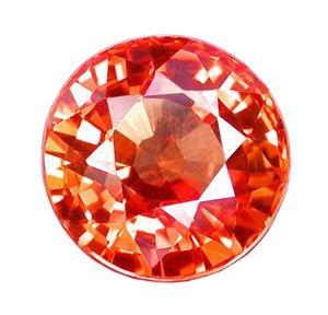 0.60 ct. Sapphire, Padparadscha Orange (Lotus Blossom), IF-VVS1 Round Faceted Gem