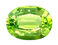 1.11 ct. Peridot, Green, VVS1 Oval Faceted Natural Gem, Burma