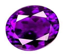 sold 2.95 ct. Amethyst, Rich Purple, VVS1 Oval Faceted Natural Gemstone