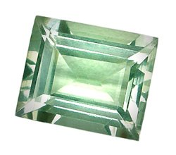 3.94 ct. Prasiolite (Green Amethyst), VVS Octagon Facet Natural Gemstone