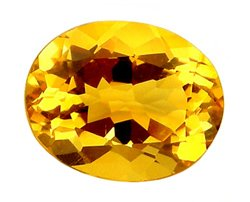 2.60 ct. Citrine, Golden Yellow, VVS1 Oval Faceted Gemstone, Brazil