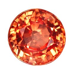 0.50 ct. Sapphire, Padparadscha Orange (Lotus Blossom), IF Round Faceted Gem