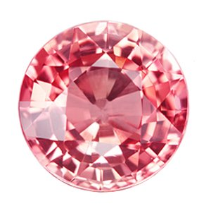 0.55 ct. Tourmaline, Pink Rose, IF-VVS1 Round Faceted Natural Gemstone, Mozambique