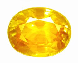 0.73 ct. Sapphire, Golden Yellow IF-VVS Oval Gem Ceylon