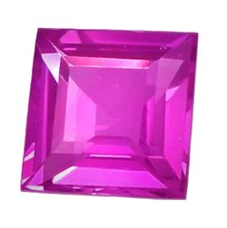 0.61 ct. Sapphire, Intense Pink, VVS Square, Ceylon