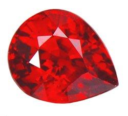 0.40 ct. Ruby, Blood Red, VVS1 Pear Tear Drop Faceted Gem, Burma
