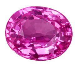 0.60 ct. Sapphire, Intense Purplish Pink, IF Oval Faceted Gemstone