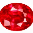0.52 ct. Ruby, Rich Red, IF-VVS1 Oval Faceted Gemstone, Songea
