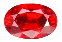 0.74 ct. Ruby, Rich Red, 6 x 4 mm VVS Oval Faceted Gemstone
