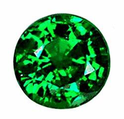 SOLD 0.59 ct. Tsavorite Garnet, Dark Green, 5 mm VVS Round Faceted Untreated Natural Gemstone, Kenya
