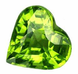 SOLD ? 1.74 ct. Peridot, VVS1 Green, Heart Shape Natural Gem