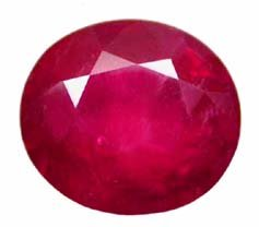 1.91 ct. Ruby, Pinkish Red, Oval Faceted Natural Gemstone