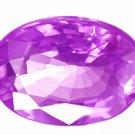 0.72 ct. Sapphire, Violet, VVS Oval Faceted Gem, Ceylon