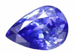 0.62 ct. Sapphire, Blue, VVS Pear (Tear Drop) Facet, Ceylon