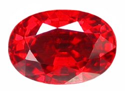 0.63 ct. Ruby, GlowingRich Red, VVS Oval Faceted Gemstone