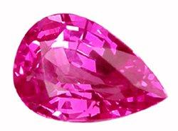 1.19 ct. Sapphire, Rich Royal Pink, VVS Pear (Tear Drop) Faceted Natural Unheated Gem, Ceylon