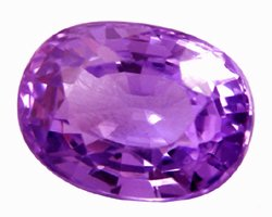 1.17 ct. Sapphire, VVS, Purple/Violet Oval Faceted Natural Gemstone, Ceylon