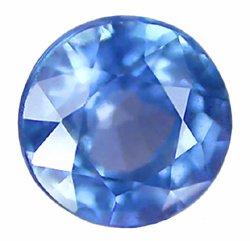SOLD 1.35 ct. Sapphire, VVS1, Blue, Round Faceted Gem, Ceylon