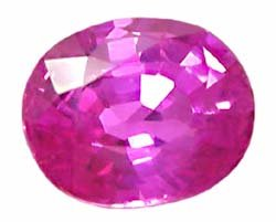 0.56 ct. Sapphire, Intense Rich Royal Pink, VVS, Oval Facet Natural Gem, Ceylon