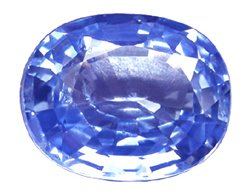 1.08 ct. Sapphire, VVS-VS, Blue Oval Faceted Natural Gemstone