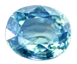 SOLD 0.90 ct. Sapphire, VVS1, Greenish Blue Oval Faceted Natural Gemstone, Ceylon