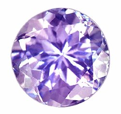 SOLD ? 1.01 ct. Tanzanite, Lavender (Violet) Blue, Round Faceted Natural Unheated Natural Gemstone