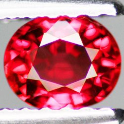 0.51 ct. Ruby, Rich Reddish Pink, Eye Clean IF Oval Faceted Loose Gem, Songea